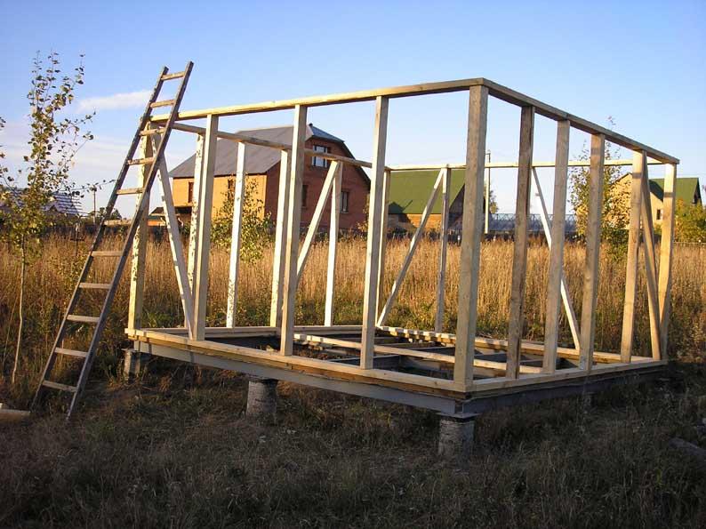Каркасный дом своими руками из металлического каркаса